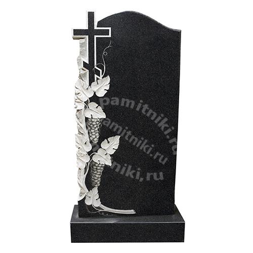 Памятник из гранита резной «Гроздья винограда» №1