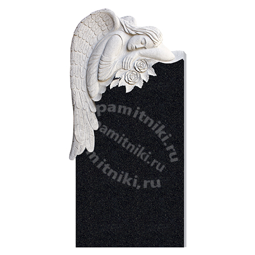 Памятник из гранита резной «Ангел»